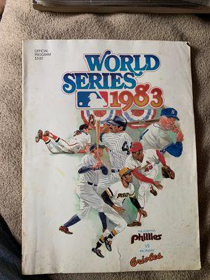 1983 WORLD SERIES OFFICIAL PROGRAM - PHILLIES VS ORIOLES - MLB BASEBALL - EC for Sale in North Benton, OH