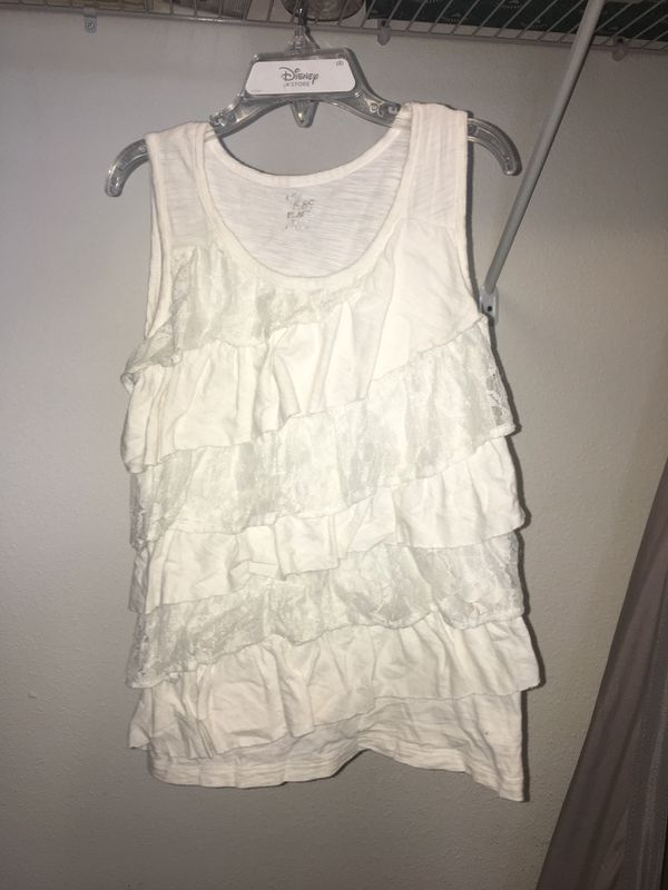 White lace children's place tank top