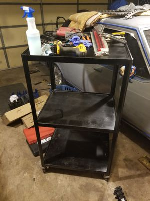 Metal cart on wheels. for Sale in Plainfield, IL