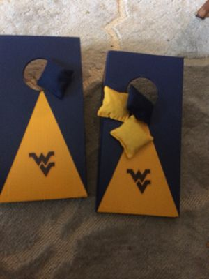 Desk top corn hole WVU for Sale in Dunbar, WV