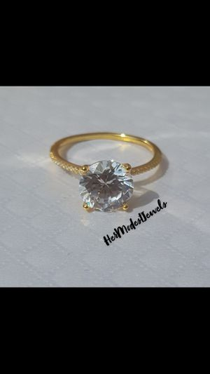 3ct Sterling Silver Ring 18k plating for Sale in Columbus, OH
