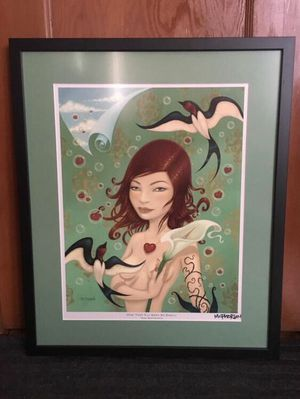 Signed, framed Tara McPherson print for Sale in Portland, OR