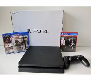 Playstation 4, Slim, Factory Re-Certified, with Games for Sale in Washington, DC