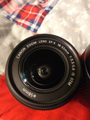 Canon lenses package 18-55mm 75-300mm 50mm all lens for Sale in San Jose, CA