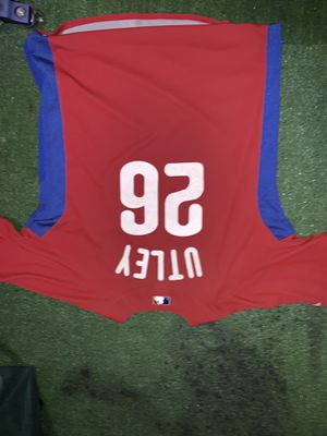 Phillies Chase Utley authenticate baseball batting practice jersey for Sale in Bensalem, PA