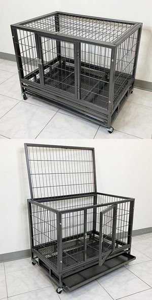 "New $110 Heavy Duty 36x24x29"" Large Dog Cage Pet Kennel Crate Playpen w/ Wheels for Large Pets for Sale in Pico Rivera, CA"