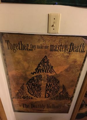 Deathly hollows poster for Sale in Tuscola, IL