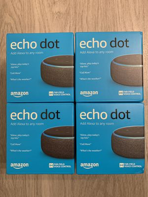 Brand new sealed Echo dot 3rd gen all 4 for $120 for Sale in Orlando, FL