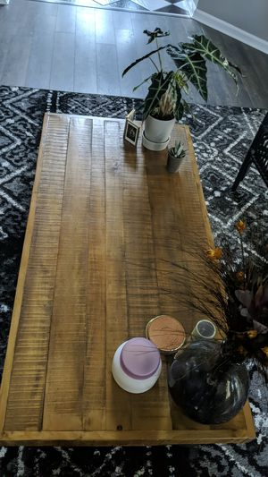 Rustic metal base solid wood Coffee Table for Sale in Lexington, KY