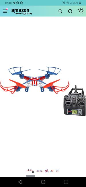 2.4Ghz Marvel - Captain America Sky Hero 4.5 Channel RC Drone for Sale in Seattle, WA