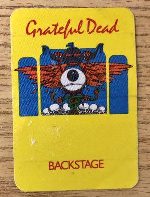 (3) Grateful Dead Vintage 1980s Backstage Passes for Sale in San Francisco, CA