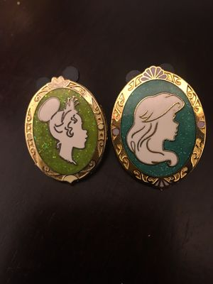 Ariel and Tiana glitter Disney pins for Sale in Tracy, CA
