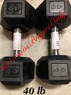 Pair Of 40 Lb Dumbbell Weights (gym and exercise Equipment Fitness ) for Sale in Fontana,  CA