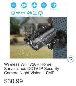 Wireless Wi-Fi 720p Home Surveillance CCTV IP Security Nigh Vision Camera for Sale in South Gate, CA
