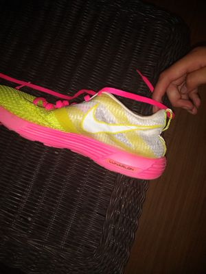 Pink and neon yellow Nikes for Sale in Morgantown, WV
