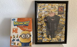 Despicable Me Framed Puzzle and Memory Game for Sale in Sacramento, CA