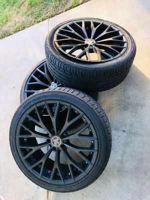 "20"" Versante Wheels VE240 Matte Black Rims for Sale in Ontario, CA"