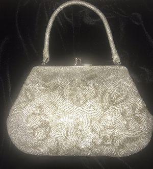 Silver Beaded Small Handbag for Sale in Las Vegas, NV