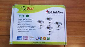 Q See Weatherproof Indoor/Outdoor CCD Cameras 4 Pack (QS2814C4) for Sale in Hemet, CA