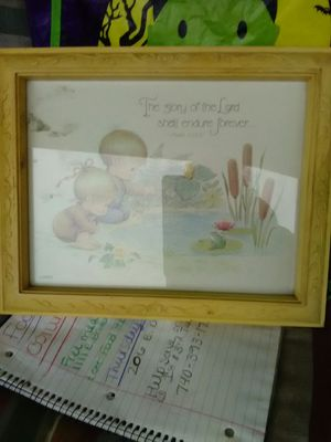 Precious moments framed picture!!! for Sale in Columbus, OH