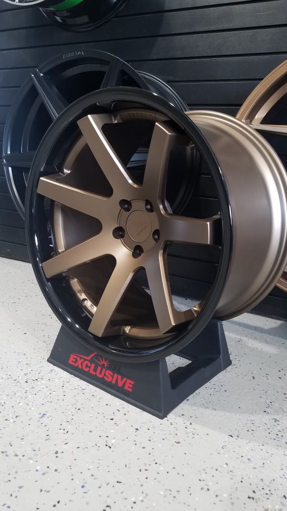 """Ferrada fr1 20"""" staggered fits mustang Camaro Nissan charger challenger bronze and black rims"""