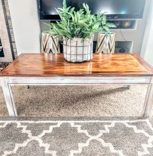 "Rustic Coffee Table CrissCross Pattern 22"" x 44"" x 15""H for Sale in Arvada, CO"