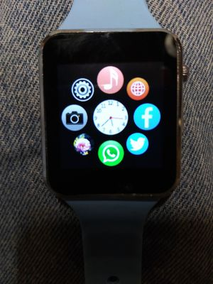 New touchscreen smartwatch with a blue band for Sale in Houston, TX