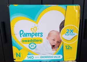 2 boxes..Pampers swaddlers size newborn enormous value pack for Sale in Waterbury, CT