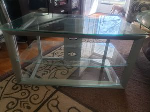 Metal and glass TV stand for Sale in Hampton, VA