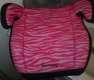 Booster Car Seat...Pink and Black...Clean for Sale in Plant City, FL