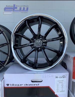 """20"""" STAGGERED WHEELS PACKAGE (4) 20"""" Blaque Diamond Rims (4) Tires Package Deal ONLY $1799 ( Limited Time Offer for Sale in Westminster, CA"""