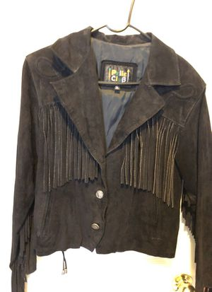 Fringe suede jacket with buffalo buttons size med. for Sale in Whiteland, IN