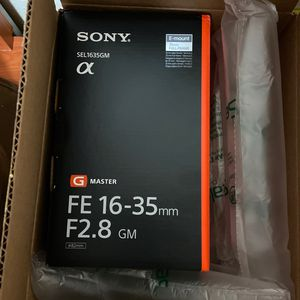 Sony 16-35mm GM brand new lens( box packed) for Sale in Beaverton, OR