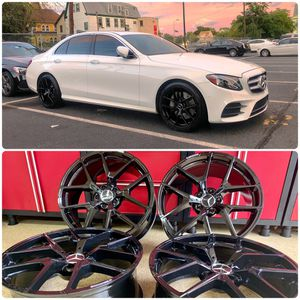 20 inches Mercedes Benz amg rims brand new gloss black wheels for Sale in West Caldwell, NJ