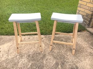 Set of 2 wooden stools for Sale in Spring, TX