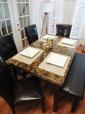 Dining table set Chairs Bench Brown for Sale in Baltimore, MD