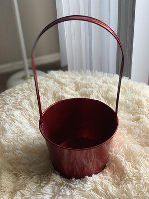 Velvet Red Flower Pot with Handle for Sale in Glendale, AZ