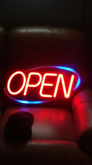 Large light up OPEN sign for Sale in Flint, MI