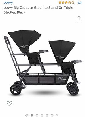 Joovy Big Caboose Graphite Stand On Triple Stroller, Black for Sale in Holly, MI