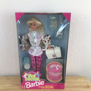 Barbie Pet Doctor Cat Puppy Makes sounds Meows Barks NEW 1990s for Sale in Huntington Beach, CA