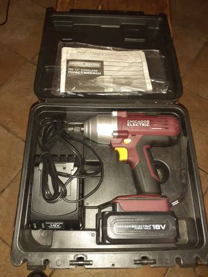 18v Chicago Electric 1/2 in Cordless Impact for Sale in Colton, CA