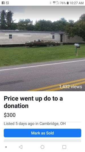 Needing someone to move a house trailer for Sale in Cambridge, OH