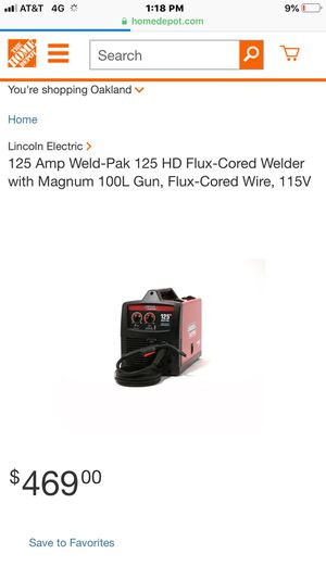 I am selling a Weld Pak 125 Lincoln Electric Flux Core welder. for Sale in Oakland, CA