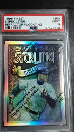 1996 finest DEREK JETER Refractor w/coating psa9 for Sale in Westminster, CA