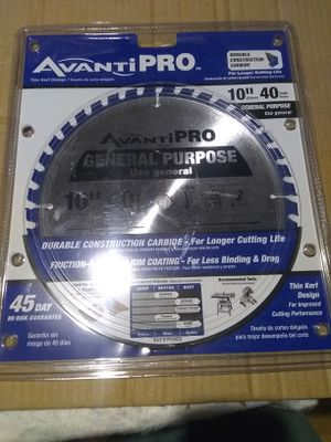 Avanti Pro 10 in x 40 Tooth General Purpose Saw Blade for Sale in Garfield Heights, OH
