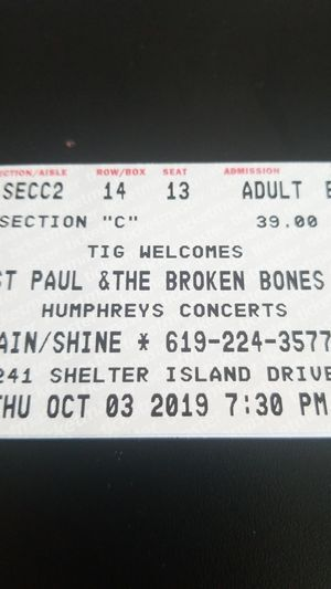 St. Paul and the Broken Bones Tickets for Sale in San Diego, CA