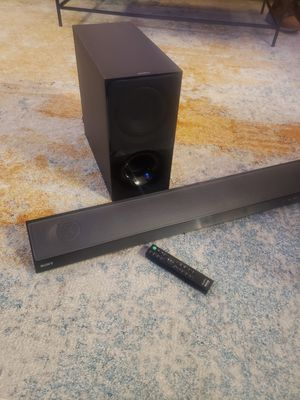 Sony Soundbar with Wireless Subwoofer 2.1 Channel with Bluetooth for Sale in Edison, NJ