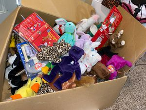 Box of Beanie Babies for Sale in Rosedale, MD