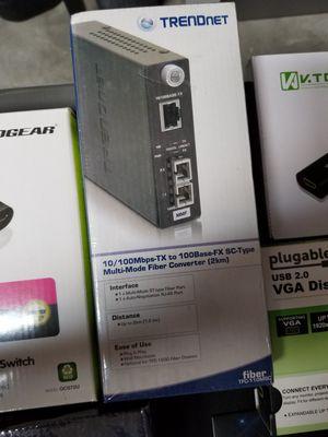 Trednet fiber to ethernet adapter for Sale in El Paso, TX