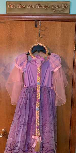 Disney Tangled Rapunzel Costume with Wig for Sale in El Paso, TX